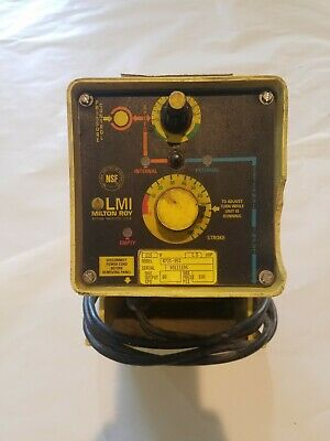Metering Pump, 2.5gph @ 100psi, 110vac, 50/60Hz, Poly-Pro Head LMI B721-95s