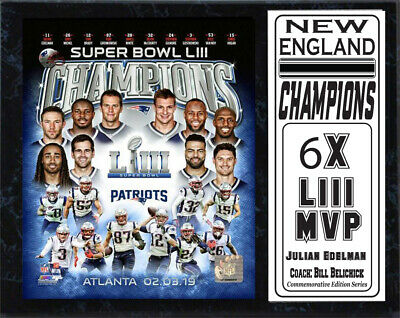 2f6e21b1904 NEW ENGLAND PATRIOTS Super Bowl LIII Champs plaque - New Lower ...