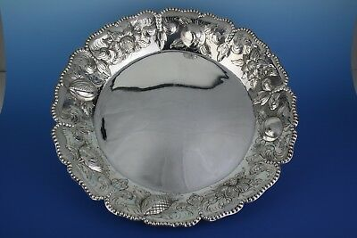 STUNNING LARGE ANTIQUE GEORGIAN STERLING SILVER FRUIT DISH - LONDON 1803 - 660g