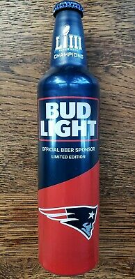 2019 Bud Light Very Limited Edition N.E. Patriots SUPER BOWL Champions BOTTLE