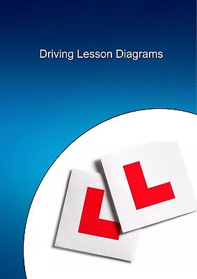 Driving instructor lesson plan diagrams - colour in professional binder