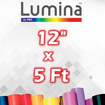 "12"" x 5 Ft Roll Lumina™ Glossy Crafting Vinyl for Cricut/Silhouette 651"