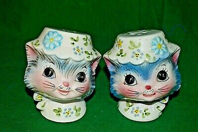 Vintage Lefton Miss Priss Salt & Pepper Shakers Marked #1511