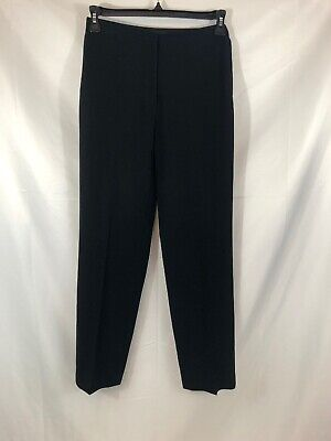 Ann Taylor Womens Size 4 Black Lined Straight Leg Career Dress Pants