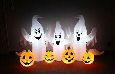 Halloween LED Air Blown Inflatable Party Blowup Decoration Ghosts Pumpkins Patch