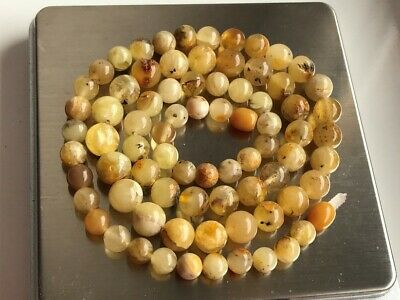 Natural Antique Baltic Vintage Amber OLD BUTTERSCOTCH  BEADS Necklace 22.56 gr