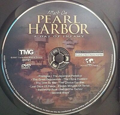 Attack on Pearl Harbor - A Day of Infamy (DVD, 2008) Disc Only! No case.
