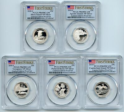 2018 S Silver Lim.Ed.Proof National Parks Quarter Set PCGS PR69DCAM First Strike