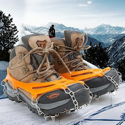 10Teeth Ice Snow Grips Traction Cleats Grippers Anti Slip Microspikes Crampons