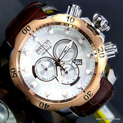 Invicta Reserve Venom Elegant Leather White Swiss Movement Chronograph Watch New