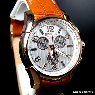 Invicta Reserve Specialty Swiss COSC Chronometer Chronograph Brown Watch New