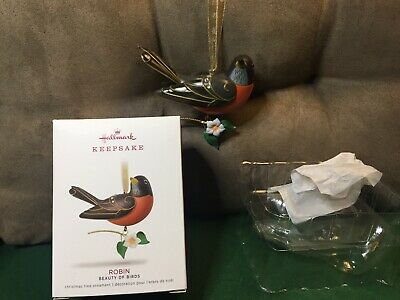 2018 Hallmark Keepsake Ornament Robin Beauty of Birds 14th in Series FREE Ship