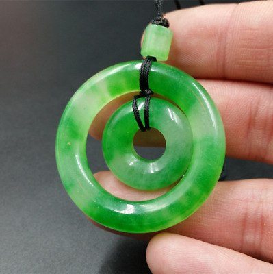 Exquisite Chinese 100% natural hand-carved JADE Pendant
