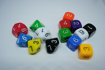 Dice 6 and 10 faces 14p  - Maths  - Games - Educational - Numeracy - School