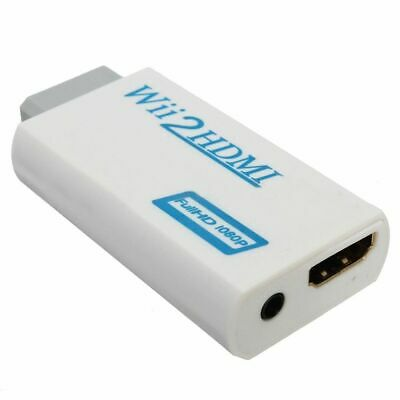 Wii To Hdmi Adapter Wii2Hdmi Output Jack 1080P Converter 3.5Mm Audio Full Hd Uk