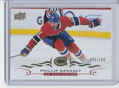 2018-19 Upper Deck UD EXCLUSIVES PHILLIP DANAULT 080/100