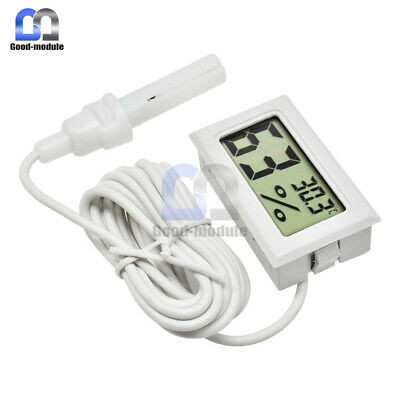 Mini Digital LCD Thermometer Hygrometer Humidity Temperature Meter With Wire