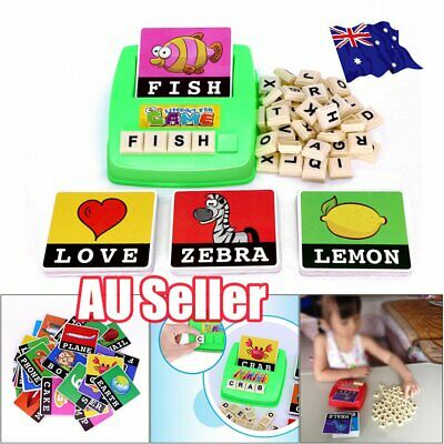 Literacy Scrabbler Early Education Puzzle Toys Gift  #T