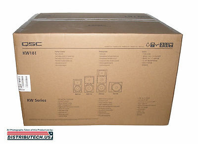 "QSC KW181 1000 Watt, 18"" Active Subwoofer NEW Full Warranty BRAND NEW"