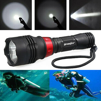 Diving Flashlight Waterproof 50000LM Torch T6 LED Tactical Super Bright Lamp Top