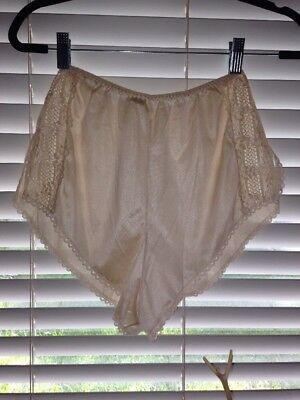 VTG~LACE Inset PANEL-HIGH WAIST~TAP Panty Panties VINTAGE SHORTS~sissy SMALL S
