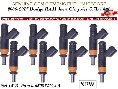 *Lifetime*05-10 CHRYSLER DODGE JEEP 5.7 V8  SET FUEL INJECTORS  05037479AA USA