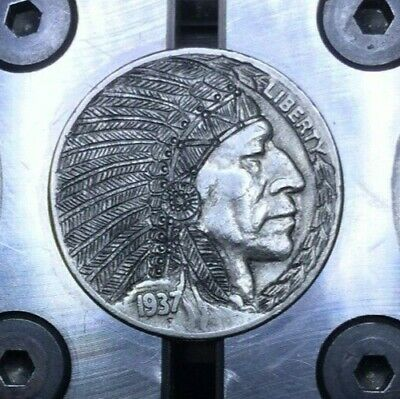 Hobo Nickel Hand Carved Engraved OHNS Love Token Native American Indian Chief