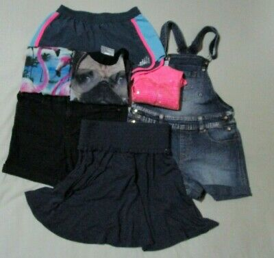 Girls Size 10 Summer Lot, Shorts, Skirt, Tops and Overalls