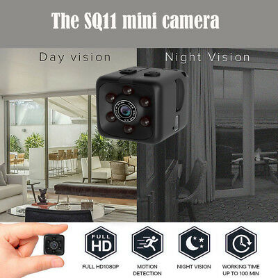 SQ11 Spy Cam Mini Kamera HD 1080P Camcorder IR Nachtsicht DV Spycam Security DEU
