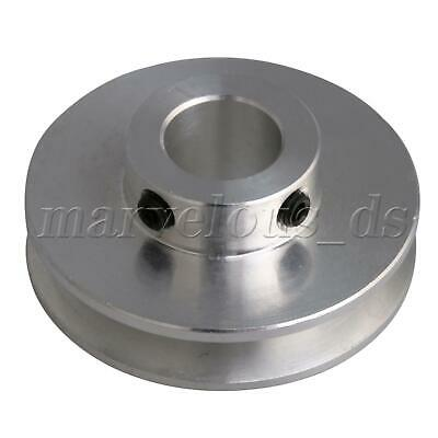Silver Aluminum Alloy Single Groove 12mm Fix Bore Step Pulley for Round PU Belt