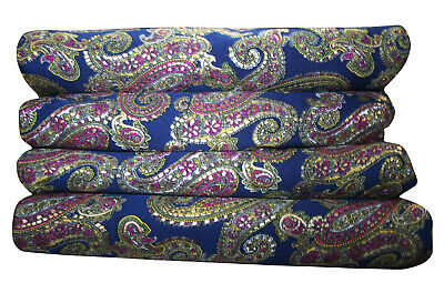 Silk mix craft fabric sewing Paisley Printed Ethnic Dress Fabric Indian Craft Au