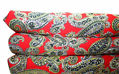 Crape Mix Fabric Vintage Paisley Retro Floral Dress Quilting Fabric Sewing Craft