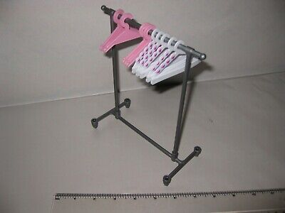 Barbie / Sindy etc doll - Clothes rail & hangers (dolls accessories)