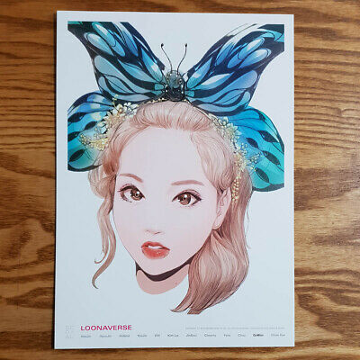 Gowon Loonaverse Concert Official MD Loona Illust Poster Monthly Girl Kpop