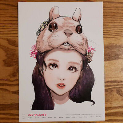 Heejin Loonaverse Concert Official MD Loona Illust Poster Monthly Girl Kpop