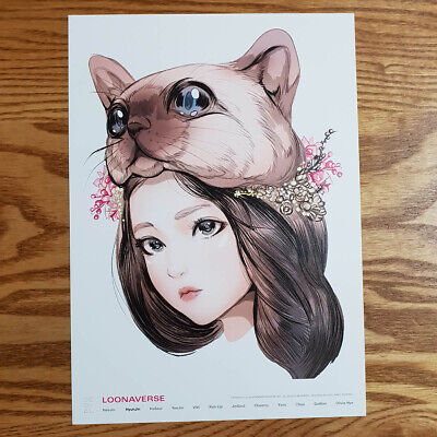 Hyunjin Loonaverse Concert Official MD Loona Illust Poster Monthly Girl Kpop