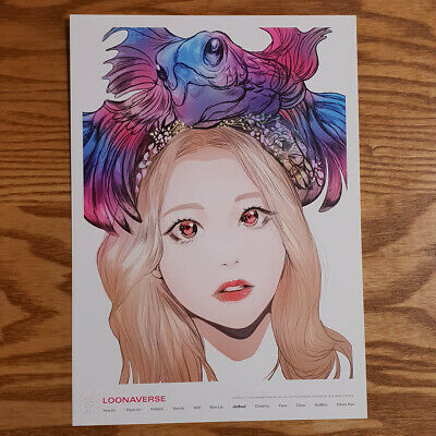 Jinsoul Loonaverse Concert Official MD Loona Illust Poster Monthly Girl Kpop