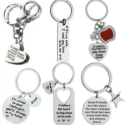 Keyring Key Ring Gift For Mum Dad Best Friends Couple Keychain Pendants Jewelry