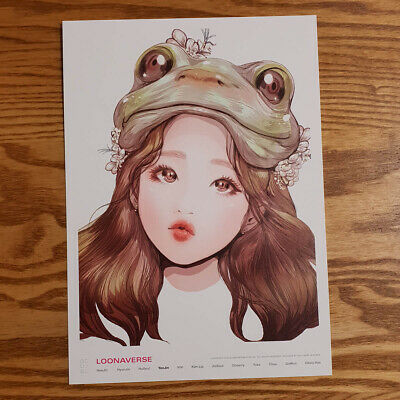 Yeojin Loonaverse Concert Official MD Loona Illust Poster Monthly Girl Kpop