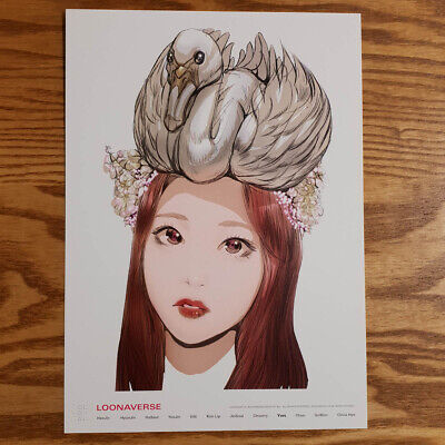Yves Loonaverse Concert Official MD Loona Illust Poster Monthly Girl Kpop