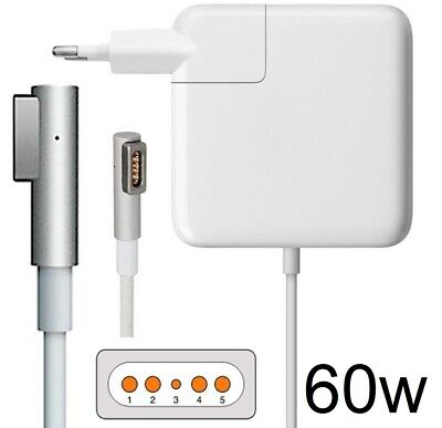 "Cargador Adaptador para Apple Mac macbook pro 13"" magsaf 60w 16.5v 3.65A"