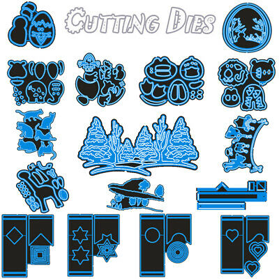 20 Styles Gift Box Cutting Dies Stencil Scrapbook DIY Paper Card Craft Embossing