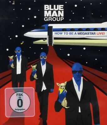 """Blue Man Group """"how To Be A Megastar-Live"""" Blu- Ray New"""