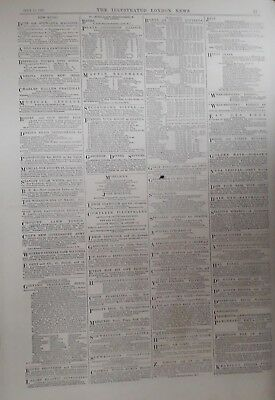 1875 ADVERT MAPPIN BROTHERS - WENHAM LAKE ICE Co - CLARKE'S FAMOUS BLOOD MIXTURE