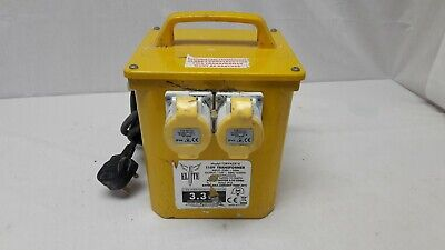 Elite 110v 3.3kVA Twin Socket Site Transformer *Collection Only* HY 85293