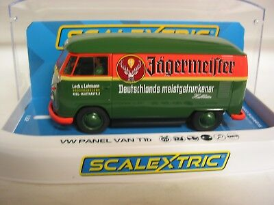Scalextric C3938 Volkswagen Panel Van  Green And Orange Jagermeister Bnib