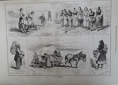 1875 Print Holiday Sketches In Prussia,saxony,thuringia,germany