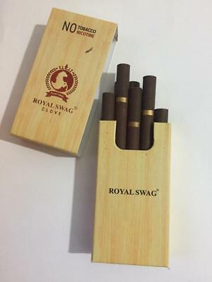 Royal Swag Clove Herbal Ayurvedic Cigarettes -  Free - Nicotine Free 100% 10pcs