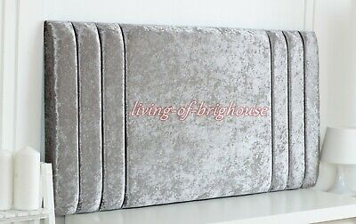 Extra Padded Crushed Velvet Fabric Headboard For Divan Beds - All Sizes-Free P&p