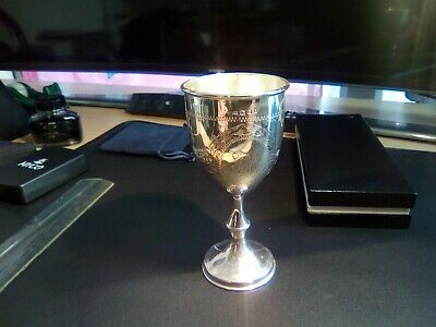 Solid silver wine goblet good condition